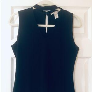 Black Sleeveless Top with choker neck
